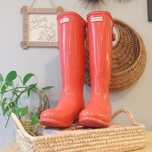 Hunter Original Tall Back Adjustable Rain Boots